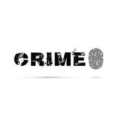 Crime prevention with a fingerprint vector