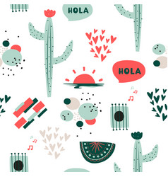 Cute background south american ethnic vector