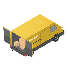 delivery truck icon isometric style vector image
