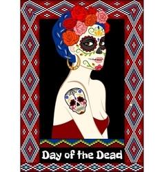 Dia de los Muertos card vector