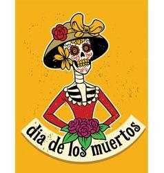 Dia de los muertos skull vector