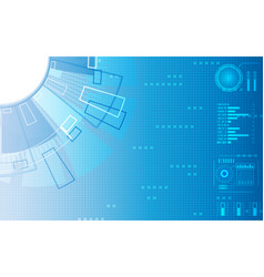digital structure elements technology vector image