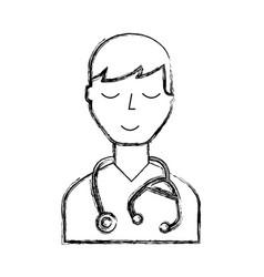 Doctor character cartoon vector
