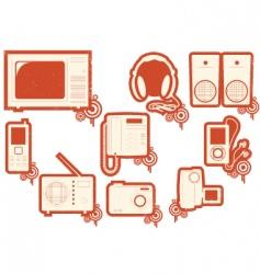 electronic symbols vector image