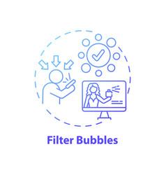 Filter bubbles concept icon vector