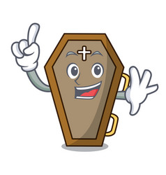 finger coffin mascot cartoon style vector image