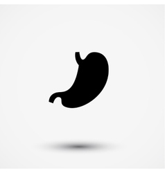 Flat black modern stomach gaster icon vector image