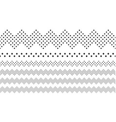 Geometrical repeating square pattern page divider vector