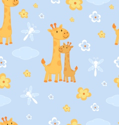 Giraffes seamless pattern vector