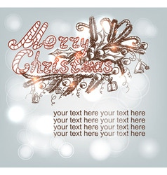 Hand-drawn Christmas banner vector