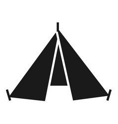 Hiking tent icon simple style vector