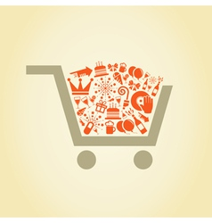 Holiday a cart vector