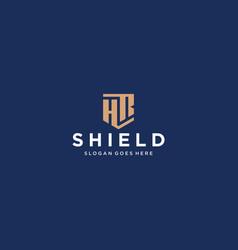 Hr letter shield icon vector