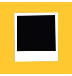 Instant big photo Flat design style Yellow vector image