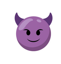 isolated emoticon design vector image