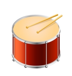 Isometric Bass drum vector image