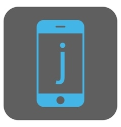 J Phone Rounded Square Icon vector