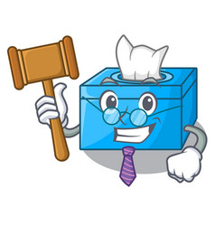 Judge tissue box isolated on the mascot vector