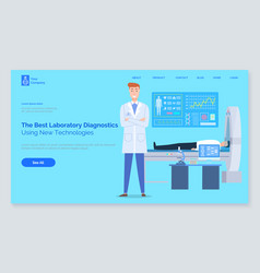 Landing page medical website laboratory vector