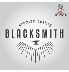 Logo for blacksmith typographic logotype badge vector