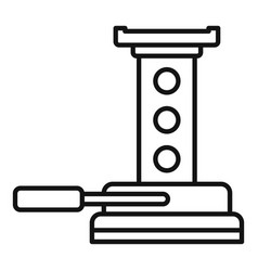 maintenance jack-screw icon outline style vector image