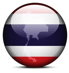 Map on flag button of Kingdom Thailand vector