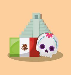 Mexican pyramid design vector