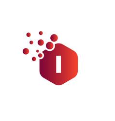 Modern i letter logo letter i logo design with vector