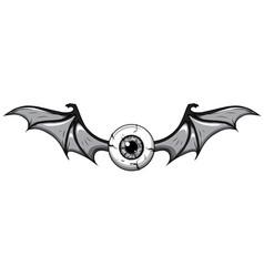 Monochromatic tattoo flying vector