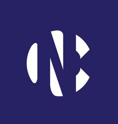 nc or cn monogram logo vector image