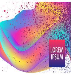 neon fluid paint splatter artistic template vector image