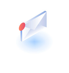new mail icon isometric style vector image