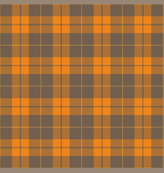 Orange gray tartan plaid seamless pattern vector
