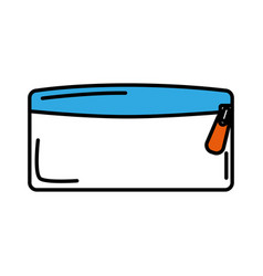 Pencil holder bag isolated icon vector
