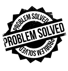 Problem solved rubber stamp vector