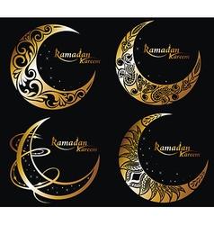 Ramadan symbols vector