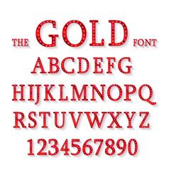red metallic font vector image