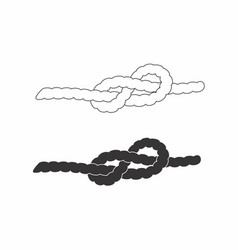 Ropes with knots vector