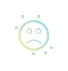 sad emoji icon vector image