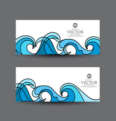 set abstract business card vector image