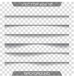 shadows isolated vector image