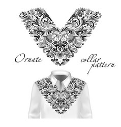 Shirt jacket and t-shirt collar pattern vector