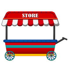 Shop on wheels with red roof vector