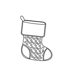 Sihouette christmas boots icon vector