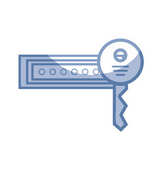 Silhouette password key to sacurity and protection vector
