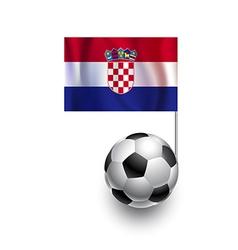 Soccer balls or footballs with flag of croatia vector
