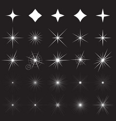 sparkle symbols and vector image vector image
