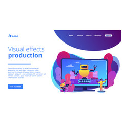Special effects design concept landing page vector