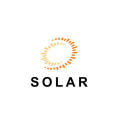 sun logo design inspiration templatesolar symbol vector image