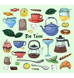 Tea Time Set vector
